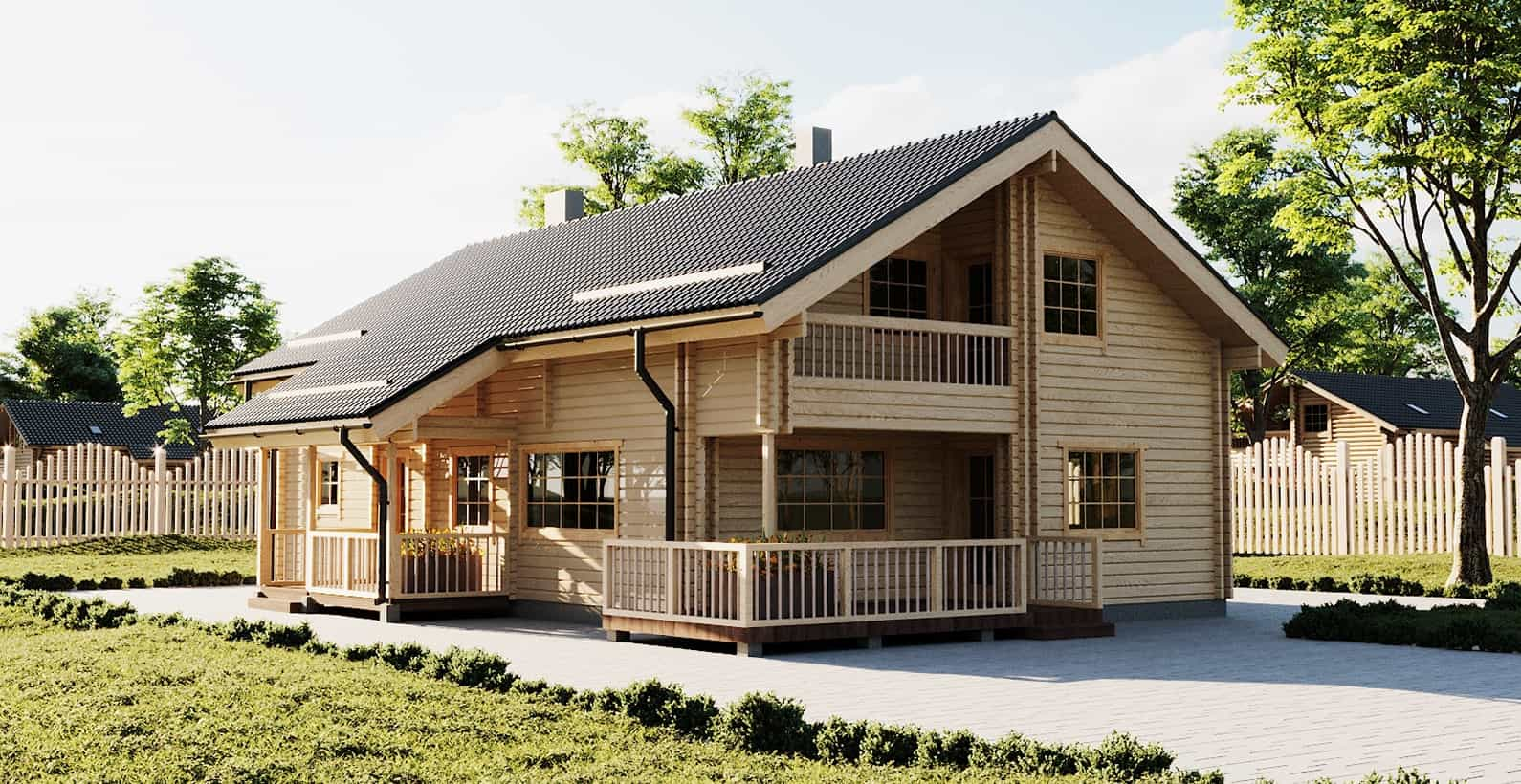 Log Prefabricated Houses Directly From Producer Palmatin Com